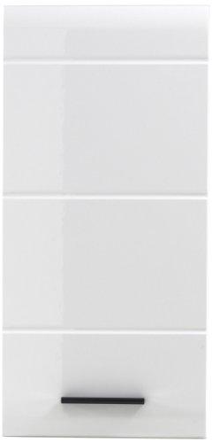 Trendteam 1116-501-01 Armario Colgante para Baño Skin 30 x 77 x 23 cm, en Blanco Brillante