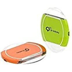Qi-Infinity™ Chargeur Pad sans Fil Induction pour Samsung Galaxy S7 / S6 / S5 / 6/ 5 / 4 / Active / Edge, LG, Nokia Lumia, iPhone, Nexus 7/ 6 / 6P / 5X / 4 (Vert)