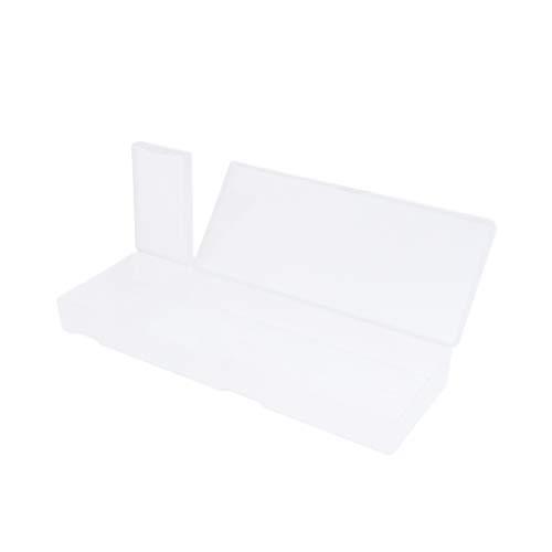 Kunststoff Federmäppchen Schreibwarenetui mit Klappdeckel und Schnappverschluss für Stifte, Kugelschreiber, Bohrer, Bürobedar - Weiß