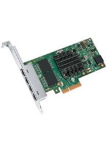 Intel I350T4V2BLK - Adattatore di rete Ethernet I350-T4, adattatore PCI Express 2.1 x 4 basso profilo - 1000Base-T x 4