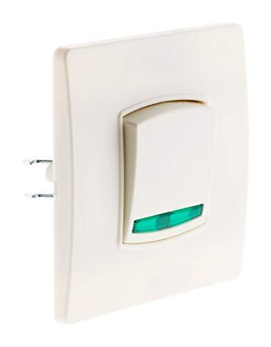 Zenitech - Interruptor basculante, color blanco