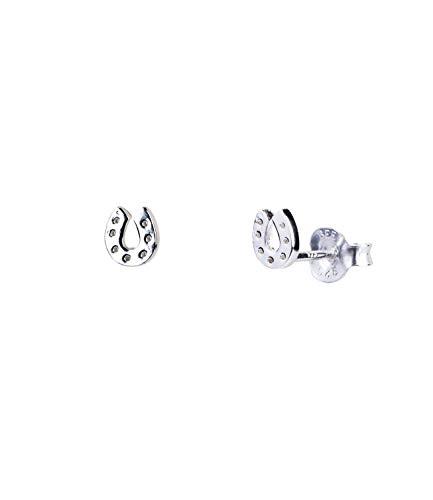 SIX Damen Ohrringe aus 925er Silber, Ohrstecker als Glücksbringer, Stecker in Form von Hufeisen, Ohrstecker für Pferdeliebhaber in silber (791-197)