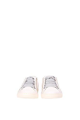 FWSKBSL7AMBAE15 Lanvin Sneakers Femme Cuir Gris Gris