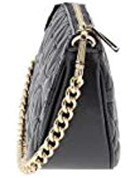 ba2fbaac540d MICHAEL by Michael Kors Black Medium Floral Quilted Leather Chain Pouch