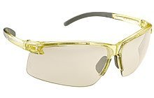 Panorama PA800 Safety Spectacles with Translucent Yellow Frame, Light Gold Mirror Lens, Ultra Lightweight , UV400, Hardcoat Lens