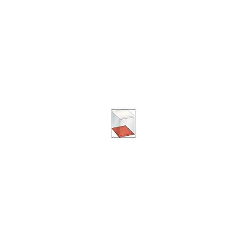LISTA Schubladenschrank Leergehäuse, Außen-BxT 717 x 725 mm, Höhe 850 mm, lichtgrau -...