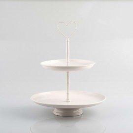 Pajoma 10242 Etagere Venedig 2-stöckig Metall Höhe 28 cm