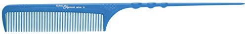 Hercules Sägemann HS C16 carbon 16 Profi Ergo-Stielkamm blau (antistatisch) Carbonkamm gleichmäßige Zahnung, 9 Zoll Stiel-Kamm (16b) -