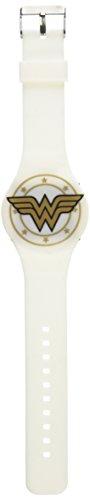 Accutime Wonder Woman weiß gold Emblem LED-Uhr (Uhr Emblem)