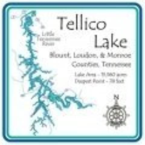 Tellico Lake 4.25 Square Absorbent Coaster by CoasterStone