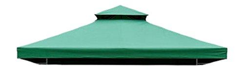 homcom Ersatzdach Dach für Metall Gartenpavillon Pavillon Partyzelt Gartenzelt, grün