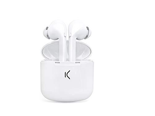 Ksix Auricular True Buds Bluetooth con MICROFONO Color Blanco