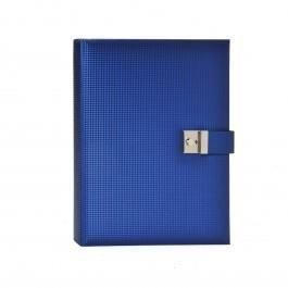 Preisvergleich Produktbild Dokumentenmappe Sirio blau Kunstleder 5 Taschen 26x34cm