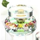StealStreet ss-gc-cc-065ab Klar K9Crystal Parfüm Flasche mit Kreis Disk Top Duft Decor