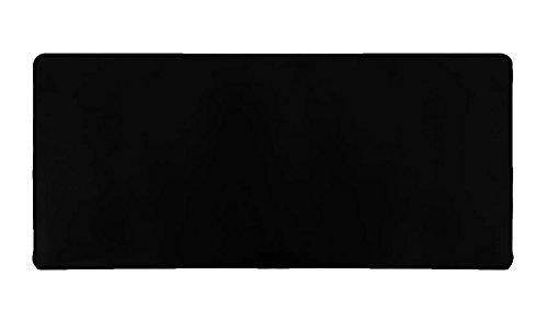 Woodlandu Verlängert Gaming Mouse Pad Genähte Kanten Geschwindigkeit seidiger Oberfläche rutschfeste Gummiuntermatten 400x900x2mm/15.7x35.4x0.08 inch Schwarz Edges