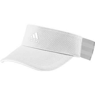 adidas Damen Womens 3 Stipe Visor Visier, Weiß (Blanco/Gris Dt3130), One Size (Herstellergröße: Osfw) - Womens Visor