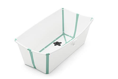 Badewanne für Babys, Kleinkinder & Kinder - Extrem leicht und zusammenklappbar - Farbe: White Aqua ()