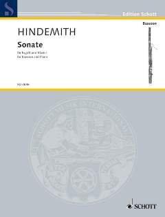 SONATE (1938) - arrangiert für Fagott - Klavier [Noten / Sheetmusic] Komponist: HINDEMITH PAUL