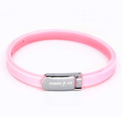 TENGGO Anion Einstellbare Strahlenschutz Energie Armband Verhindern Müdigkeit Anti Statische Linderung Armband-Hell-Pink