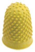 Gummi-Fingerhut (hohe Qualität, zum Geldscheine-Zählen, Umblättern, Größe L) 10 Stück gelb
