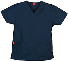 'Two Pocket Top mit V-Ausschnitt' Scrub Top Navy Medium (Pocket-v-ausschnitt-scrub-top)