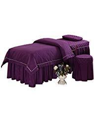 O'FIVEST O 'Fivest Massage Tisch Tabelle Sets, Pure Farbe, 4Stück, Tagesdecke mit Face Rest Loch, Anpassbare 74