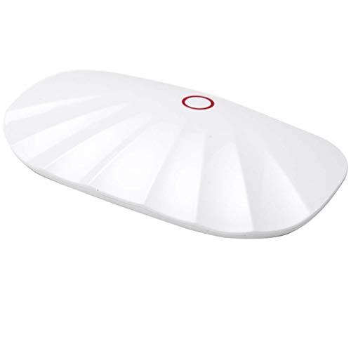 Wwjlamp Shell Nail Lampe Mini Phototherapie Lichttherapie Ofen Trockner Schnelltrocknendes Blei Tragbarer Ofen Kleiner, zusammenklappbarer, Leichter Tragegürtel Geeignet für Familien und Salons,White (Uv-ofen)