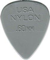 Jim Dunlop Plektren, Nylon, Stärke 0,60mm, 12Stück