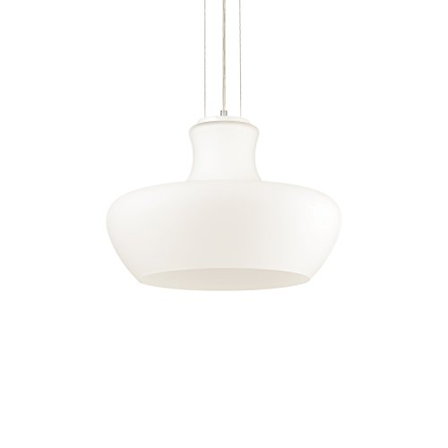 L'Aquila Design Arredamenti Ideal Lux Lampe Aladino Suspension Structure Métal Salle SP1 D45 Blanc