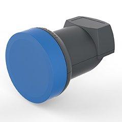 OPTICUM Blue LSP-04H V2 Single LNB für einen Teilnehmer (Waßer/Frost/UV-Resistent, 40mm Feedhals, FullHD/4k HD/3D Ready) schwarz V2.0 Single