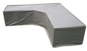 Funda / Cover / Protectora para Sofá de la esquina | 300 x 300 x 98 x 70 cm (L x A x A) | Gris | Resistente al Agua | SORARA | Poliéster (UV 50+) | Para exterior Muebles de Jardín, Terraza, Patio