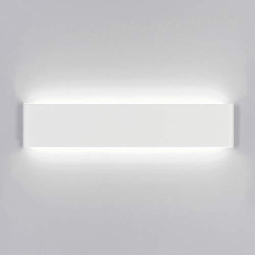 Yafido Aplique Pared Interior LED 40CM Blanco Lámpara de pared 14W Blanco Frío para Salon Dormitorio...