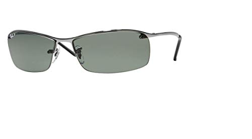Ray-Ban RB3183 004/9A 63M Gunmetal/Green Polarized Sunglasses