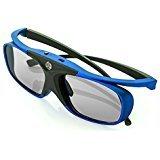 WOWOTO DLP Link occhiali 3D, occhiali attivi 3D ricaricabili per tutti i proiettori DLP e DLP 3D TV (Blu)