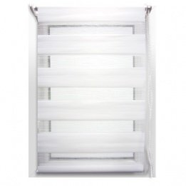Store enrouleur jour/nuit (60 x H180 cm) Blanc