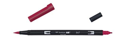 Tombow Dual brush-847-Pennarello Doppia Punta Pennello, colore: rosso