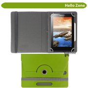 "Hello Zone 360° Rotating 7"" Inch Flip Case Cover Book Cover for Swingtel Hello Tab -Green  available at amazon for Rs.285"