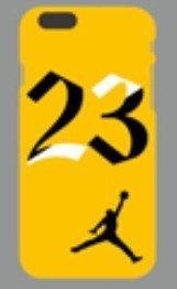 New Ronney 's Air Jordan Nr. 23Weiche Sohle Silikon Schutzhülle für Apple iPhone 6/6S gelb