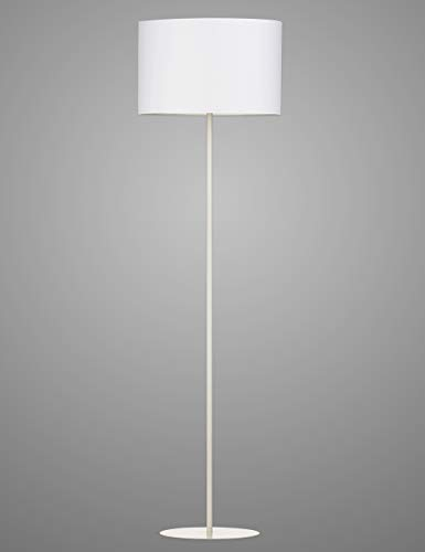 Modernluci Stehlampe Modern Stehleuchte für das Wohnzimmer, Schlafzimmer lampen, zeitnah Standleuchte Skandinavischer Stil mit Textilschirm ø40 cm Höhe:143 cm Weiß MEHRWEG -