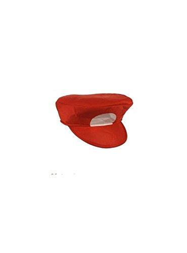 LARIGOLADE 1Cap Mario rot (Berühmte Schnurrbärte Kostüme)