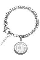 DKNY-nj1412040-Donna Karan Damen-Armband Stahl-Doppel Kette-Charm-Logo