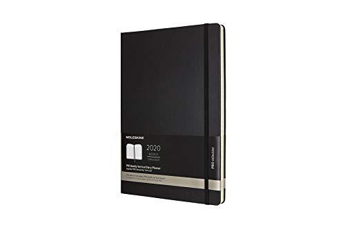 Moleskine 8058647629384 - Agenda professionale per 12 mesi 2020, formato A4, verticale, per appunti, copertina rigida, colore: Nero
