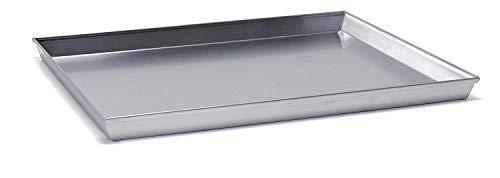 Ballarini 7044.35 Plat à Four rectangulaire - Angles évasés avec Bord en Aluminium Brut - 35x28cm