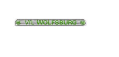 Vfl Wolfsburg - 3D-Sticker - Colour Edition - Schriftzug