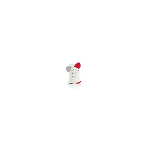 pirulos 86212015–Spielzeug Microfaser Decke, 80x 90, Hello Dream, weiß und rot
