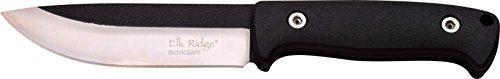 Elk Ridge Couteau d'extérieur Hunter Noir Nylon Fibre Paracord Wrap Poignée, Longueur Totale : 26,67 cm, elkr de 1231