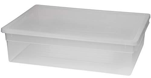 XL Aufbewahrungsbox mit Deckel aus transparentem Kunststoff und XL Stauvolumen! Maße: 37,6 x 52 x 13,9 cm