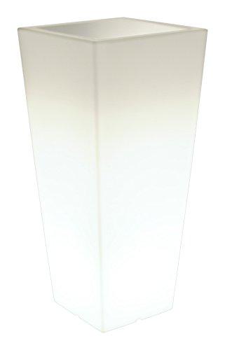 Farmet T/352 Maceta Polietileno Hydrus Marco con Luz, 25 cm, Color Blanco