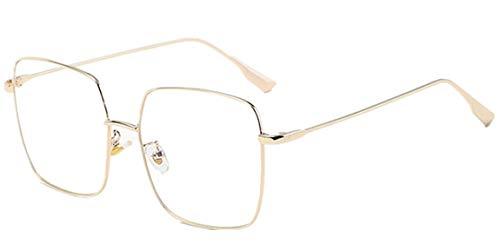 JIUPO Anti Blaulicht Computer Brille Retro Metallrahmen Brillenfassung Sixties Style Brillen Damen und Herren