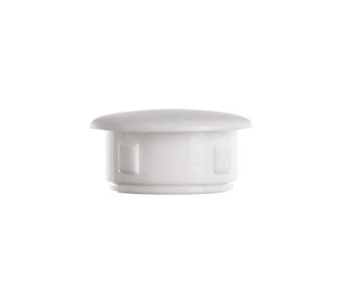 Preisvergleich Produktbild 10 Stck. Abdeckstopfen 10x7 Weiß Abdeckkappen Blindstopfen Kunststoffkappen